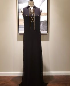 NWT Michael Kors black sleeveless maxi dress